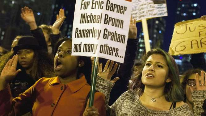 Protest in New York. Foto: Michael Nagle