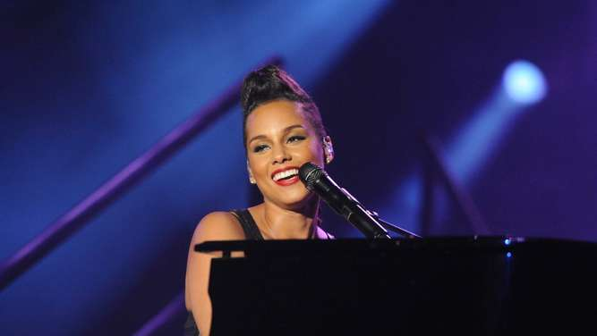 Sängerin Alicia Keys Champions League Finale