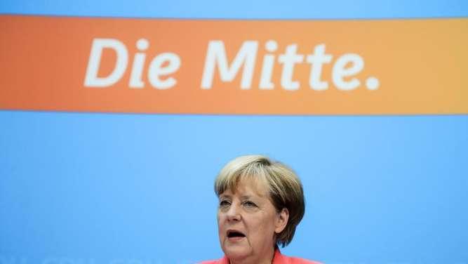 Ungewöhnlich offene Worte von Bundeskanzlerin Angela Merkel bei einer Pressekonferenz nach der CDU-Bundesvorstandssitzung in Berlin