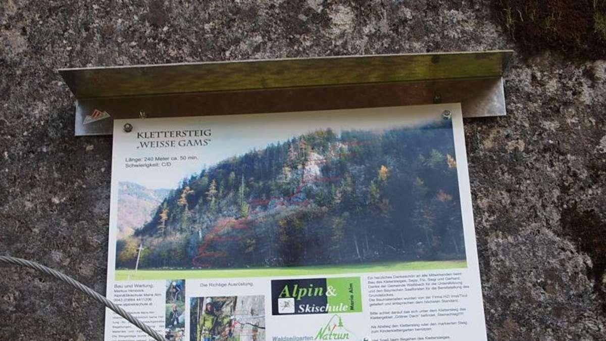 Klettersteig Weiße Gams : Weisse gams klettersteig bergsteigen