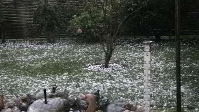 Hagel in Kolbermoor