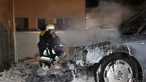 Pkw-Brand in Freilassing