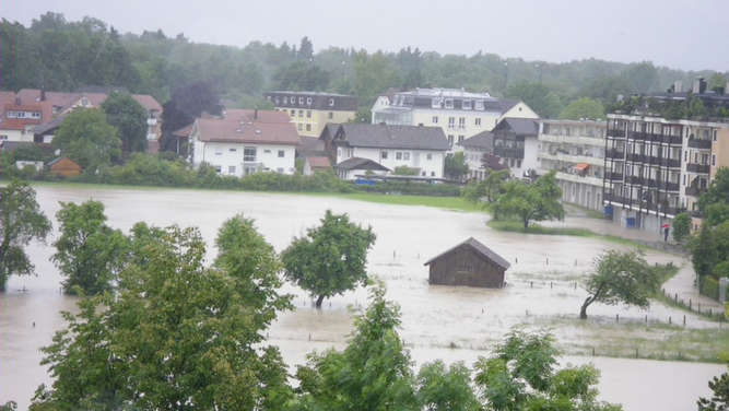 Hochwasser in Freilassing