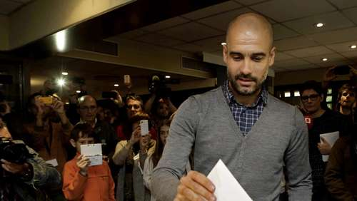 Hier stimmt Guardiola in Barcelona ab