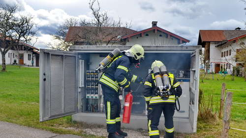 Brand in Trafostation in Tinnerting