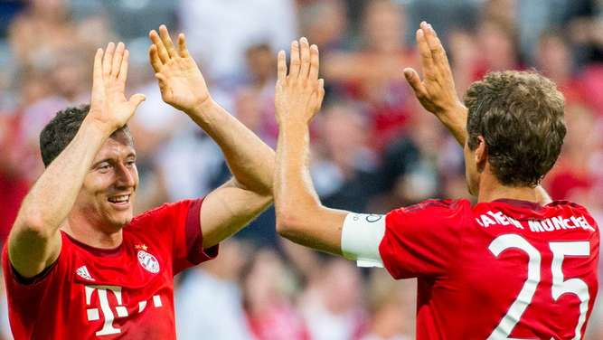 FC Bayern, Robert Lewandowski, Thomas Müller, Audi Cup, Real Madrid