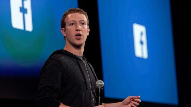 Facebook Gründer Mark Zuckerberg stellt in Menlo Park in Kalifornien (USA) eine App vor. Photo: Peter Dasilva Foto: Peter Dasilva