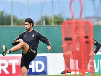 Sami Khedira beim Training in Turin