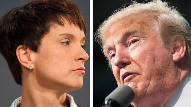 Frauke Petry und Donald Trump