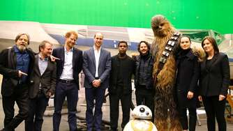 Prinz William und Prinz Harry auf dem Star-Wars-Set: Bilder