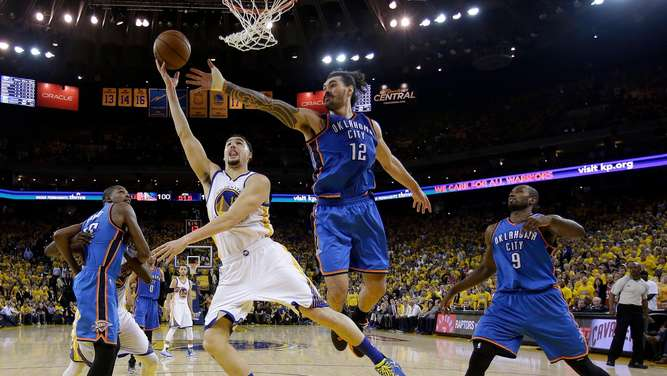 Die Oklahoma City Thunder machten es den Golden State Warriors schwer.