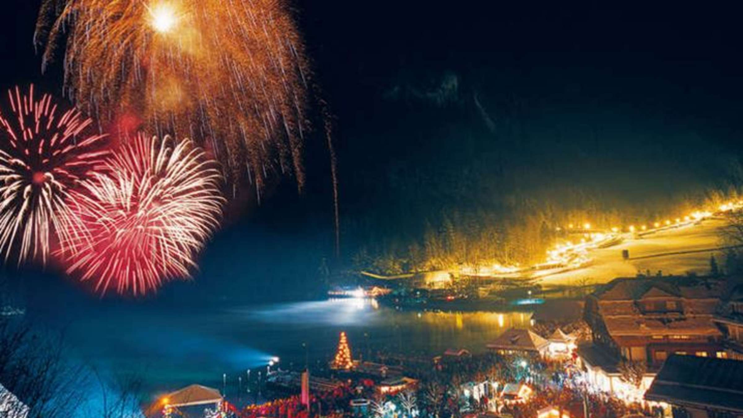Schonau Am Konigssee Neujahrsparty Am Konigssee Feuerwerk Live