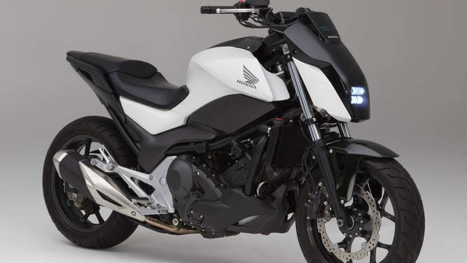"Honda-Prototyp mit ""Moto Riding Assist""."