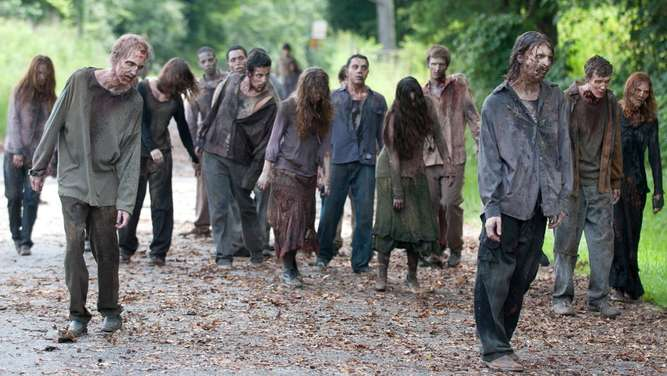 "Zombies aus der Serie ""The Walking Dead"""