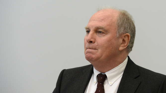 Trial against Uli Hoeness, the president of German soccer club FC
