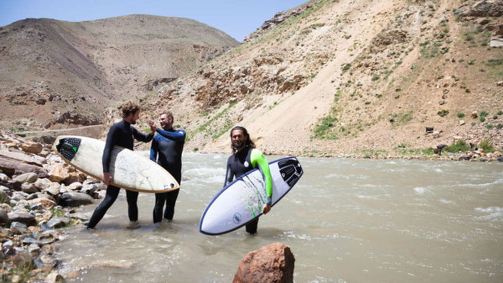Surfer in Afghanistan