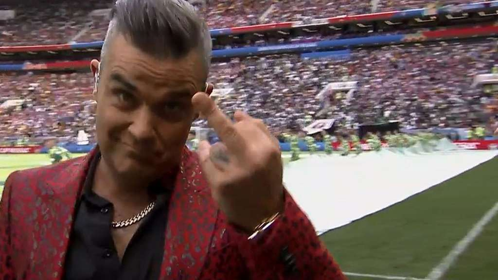 Robbie Williams zeigte den Mittelfinger in die Kamera