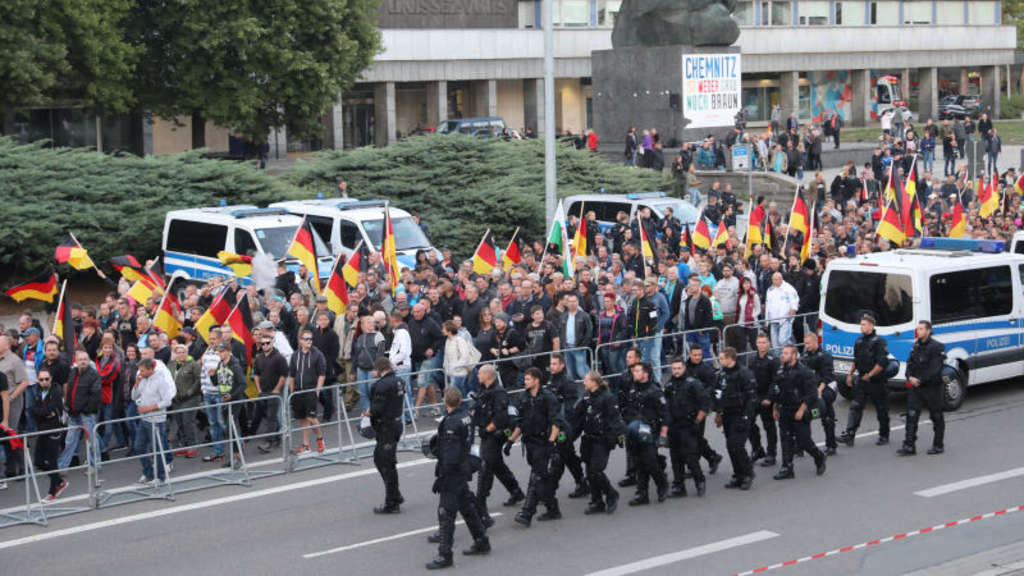 Neue Proteste in Chemnitz.