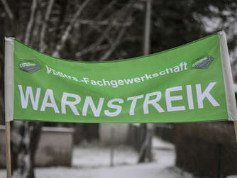 Warnstreik in Freilassing