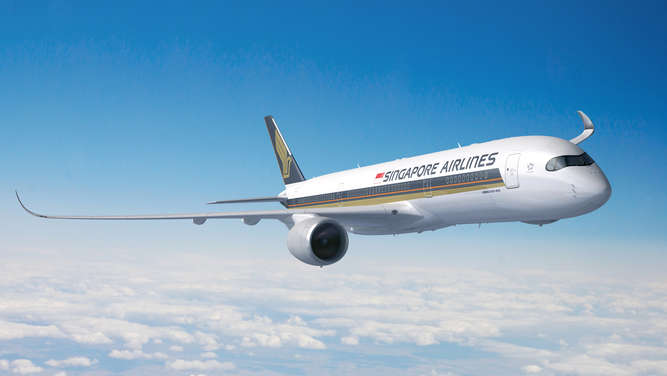 Eine Maschine der Singapore Airlines.