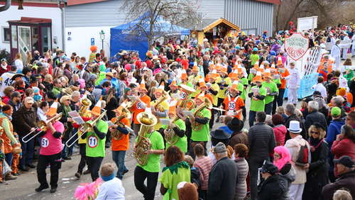 Video und Bilder: So bunt war der Faschingszug in Vagen
