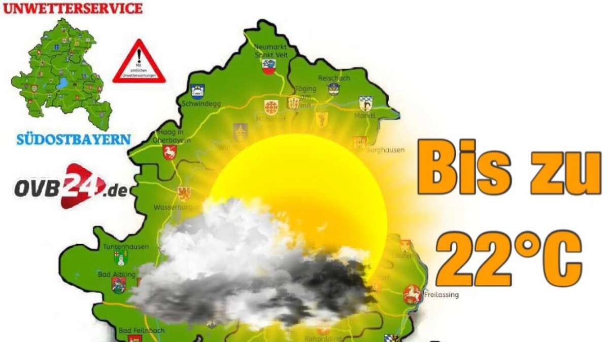 Südostbayern - Wetter Rosenheim, Traunstein, Altötting