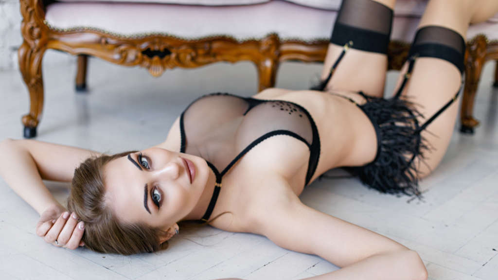 Young sexy woman in a beautiful lingerie