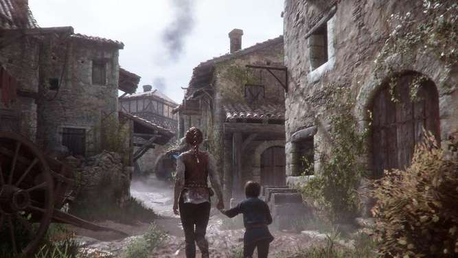 In einer von Elend und Krankheit bedrohten Welt muss Amicia ihr Leben und das ihres fünfjährigen Bruders retten. Screenshot: Focus Home Interactive/dpa-tmn Foto: Focus Home Interactive