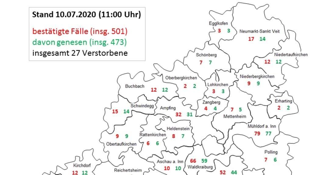 Aktuelle Coronafälle Bayern