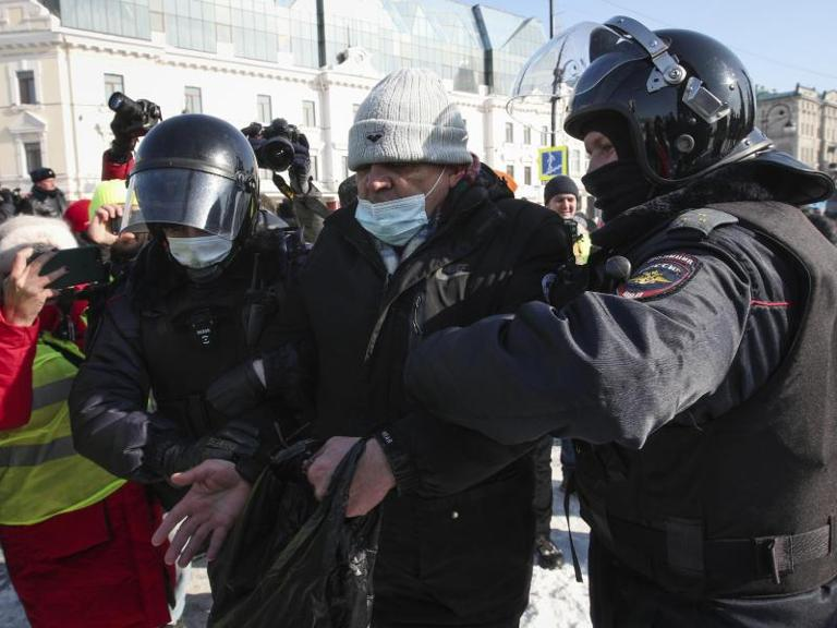 Protest in Russland